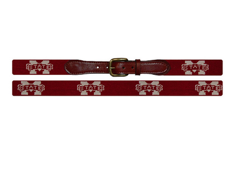 Mississippi State Needlepoint Belt