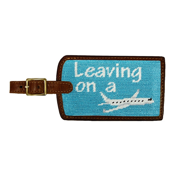Luggage Tag Leaving on a Plane