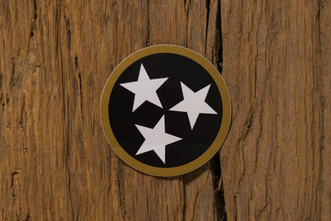 Black/Gold Tristar Sticker