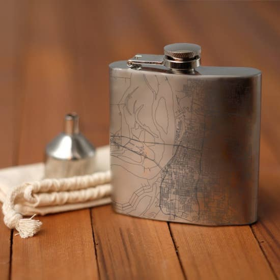 Memphis Map Flask