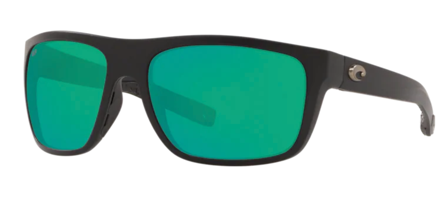 Broadbill Matte Black w/ Green Mirror 580G