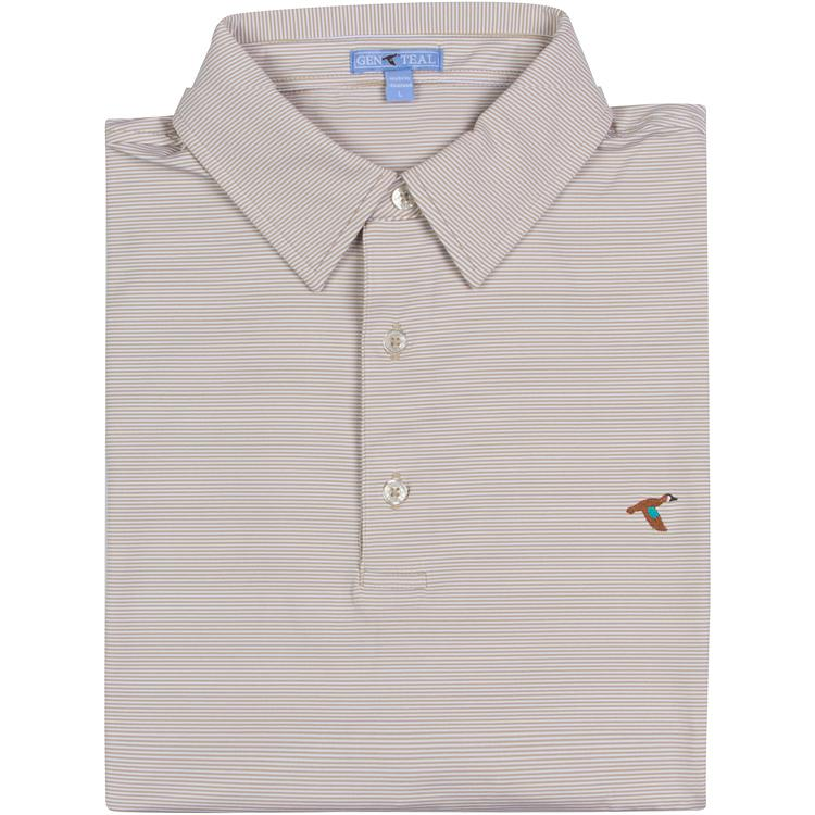 Elm Pinstripe Performance Polo