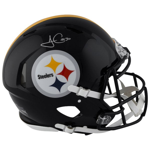 James Conner Signed Steelers Full Size Replica Helmet