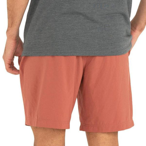 Lined Breeze Short Adobe Red