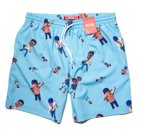 Sandlot Bobblehead Swim Trunk