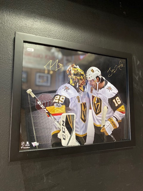 Marc-Andre Fleury and James Neal Golden Knights