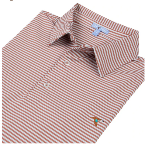 Adobe Seaside Stripe Performance Polo