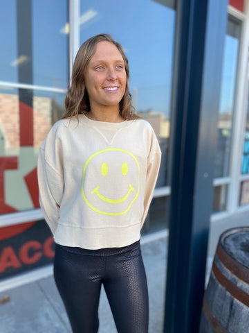 Smiley Cord Sweatshirt