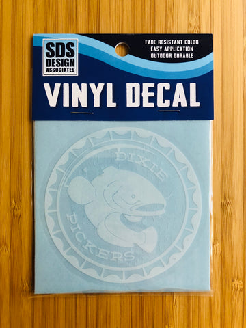 "Dixie Pickers White Seal 3"" Decal"