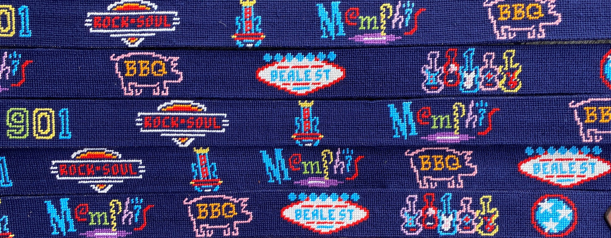 Neon Memphis Signs Belt