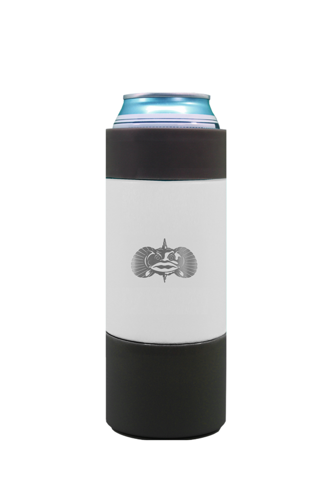 Non-Tipping Slim Can Cooler White