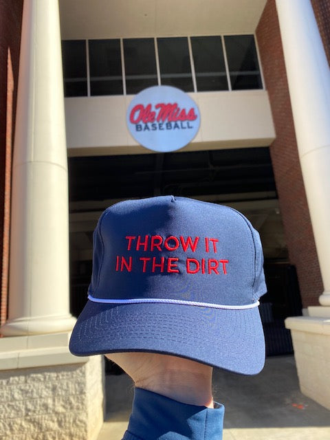 Throw it in the Dirt Rope Navy/Red