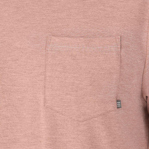 Flex Pocket Tee Heather Adobe Red