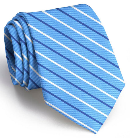 Lewis Tie Light Blue w/ Navy