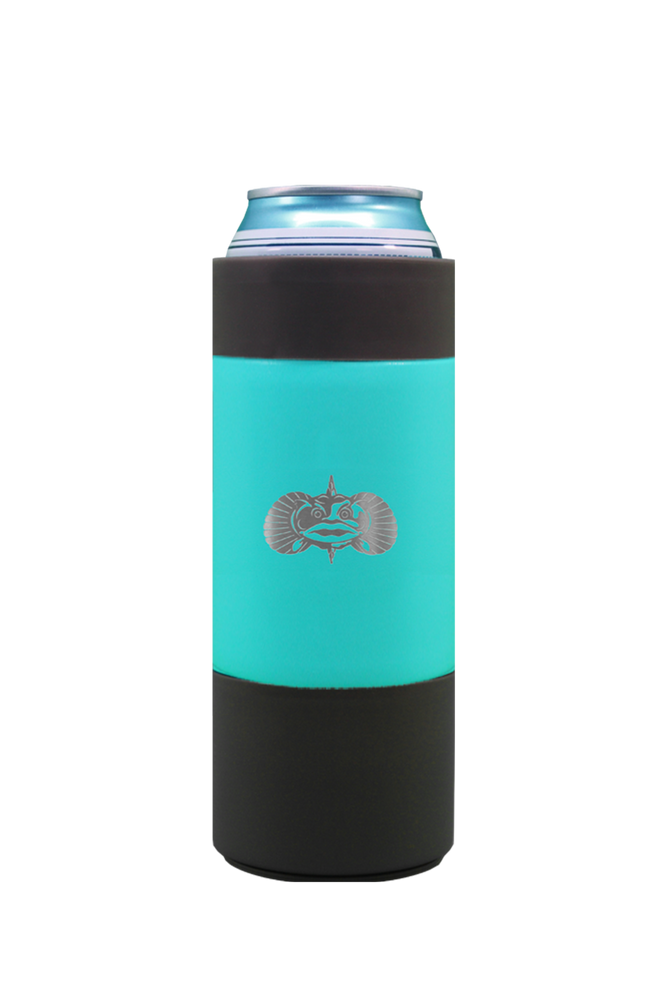 Non-Tipping Slim Can Cooler Teal