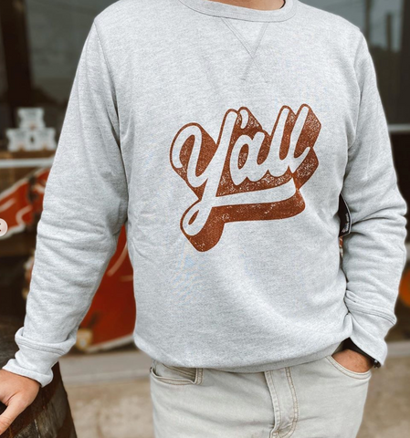 Y'all Pullover Sweatshirt