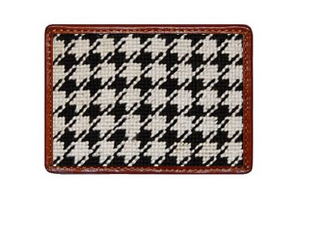 Houndstooth Needlepoint Bi-Fold Wallet