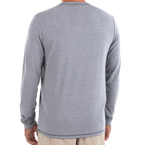 Flex Long Sleeve Heather Slate Blue