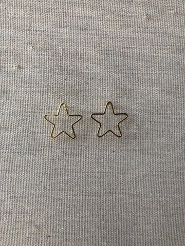 Holly Star Post Earring
