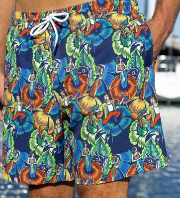 "Tom Ace ""Jungle Friends"" Swim Trunk"