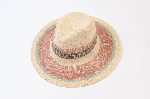 Manhattan Color Stripe Straw Hat