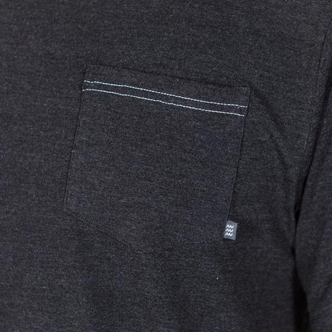 Flex Pocket Tee Heather Black
