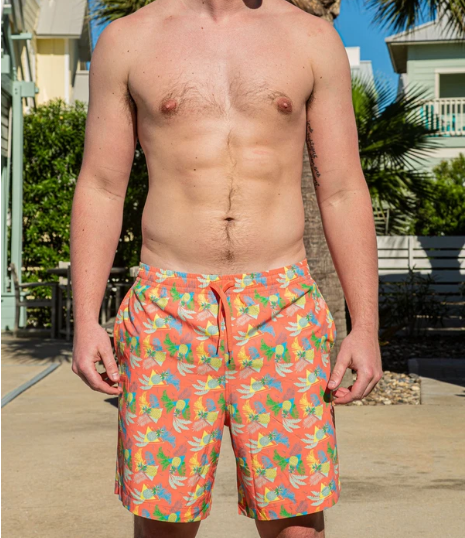 Pineapple and Palms Swim Trunks