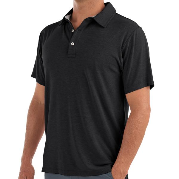Bamboo Flex Polo Heather Black