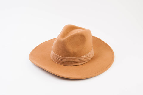Wildflower Tan Wool Fedora