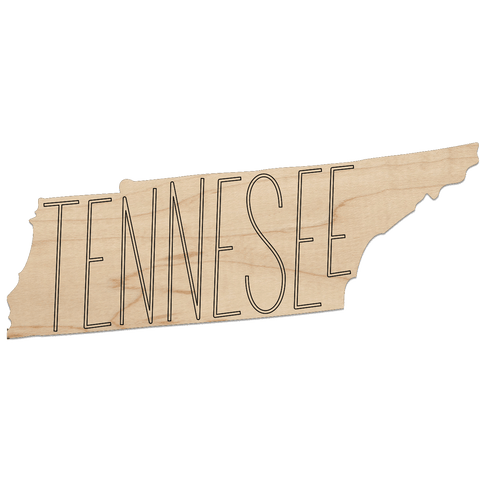 Tennessee Cut-Out Coaster
