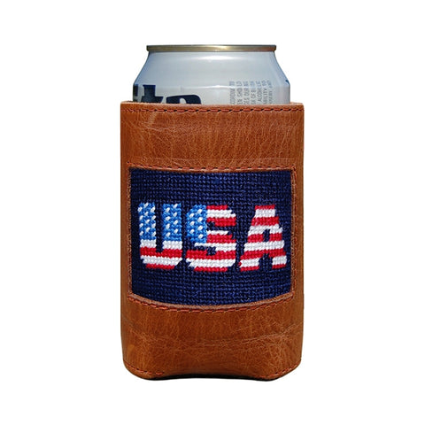 Patriotic USA Needlepoint Coozie