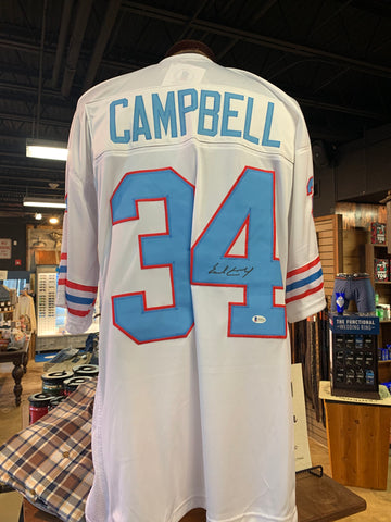 Earl Campbell #34 Signed Oilers Jersey