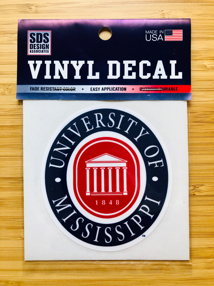 "Ole Miss Seal 3"" Collegiate Decal"