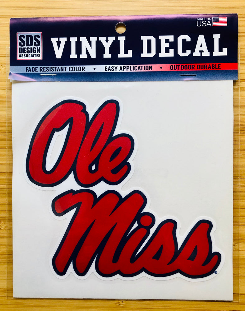 "Ole Miss Script 6"" Collegiate Decal"