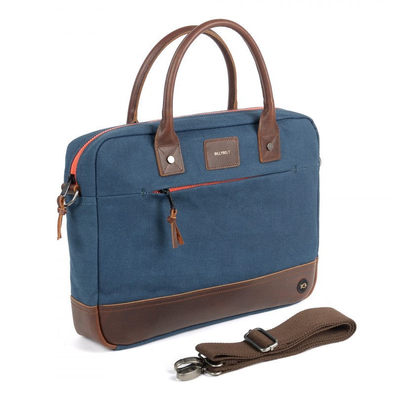 Navy and Red Laptop Bag
