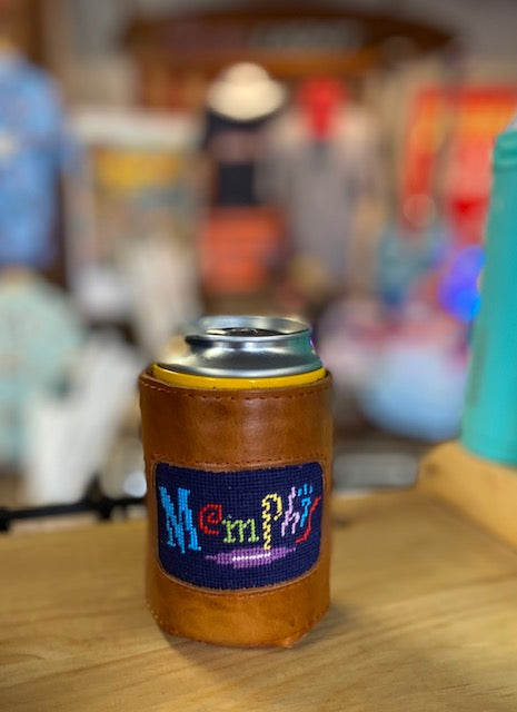 Memphis Neon Sign Needlepoint Coozie