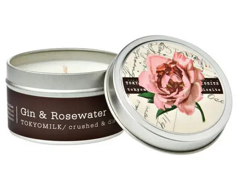 Gin and Rose Water Travel Candle