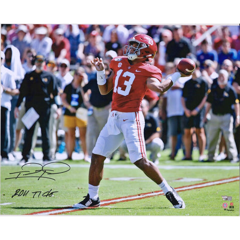 Tua Tagovailoa Signed Alabama Passing Photo 16x20