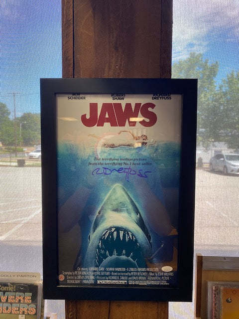 Richard Dreyfuss Signed Jaws Poster