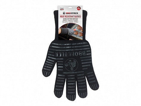 Black Fabric Grilling Gloves