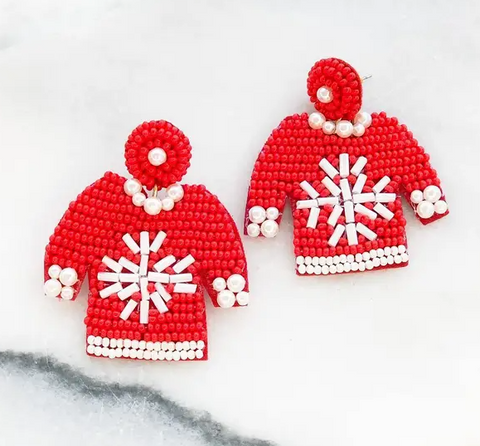 Snowflake Sweater Earrings