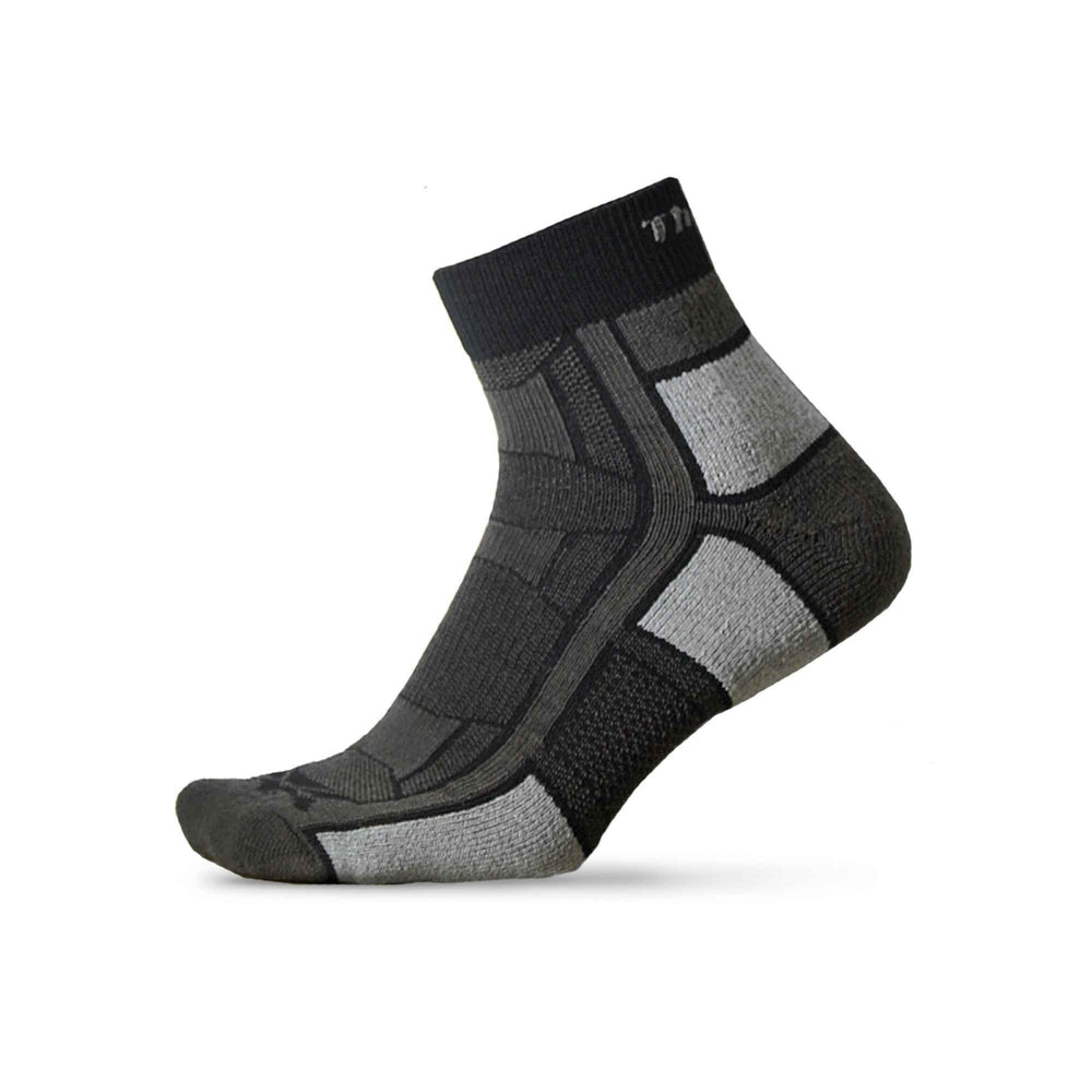Trail Running Quarter Sock Pitch Black
