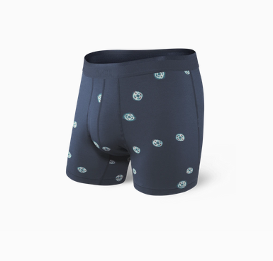 Platinum Boxer Brief Navy Tie Dye Dot