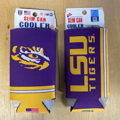 Slim Can Cooler LSU
