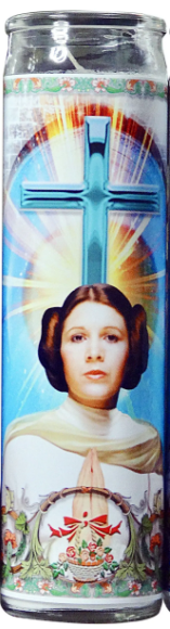 Princess Leia Prayer Candle