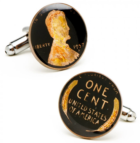 Black Wheat Penny Cufflinks