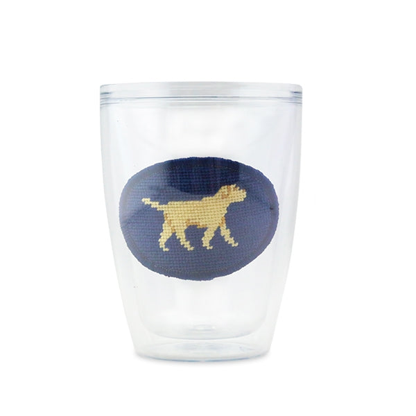 Yellow Lab Needlepoint Tumbler