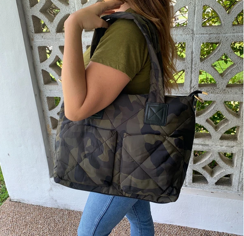 Puffer Camo Messenger Bag