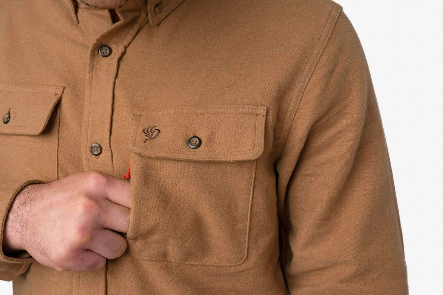 Heavyweight Shirt Pintail Brown