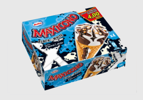 Maxicono Black & White Multipack - 4 x 81 gr.